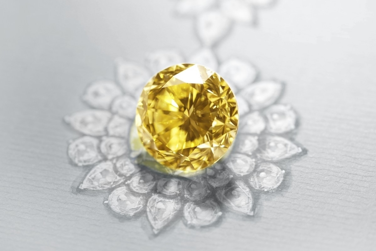 Pascal Mouawad Reveals The World's Largest Round Yellow Diamond In The World